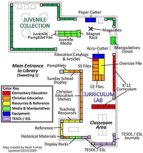 CurLab and Juvenile Collections Map
