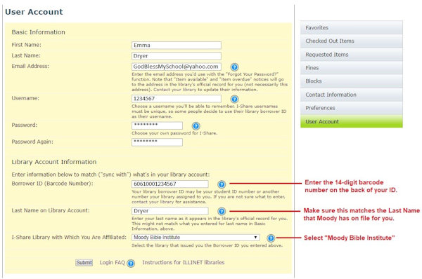 how to change email address in library account