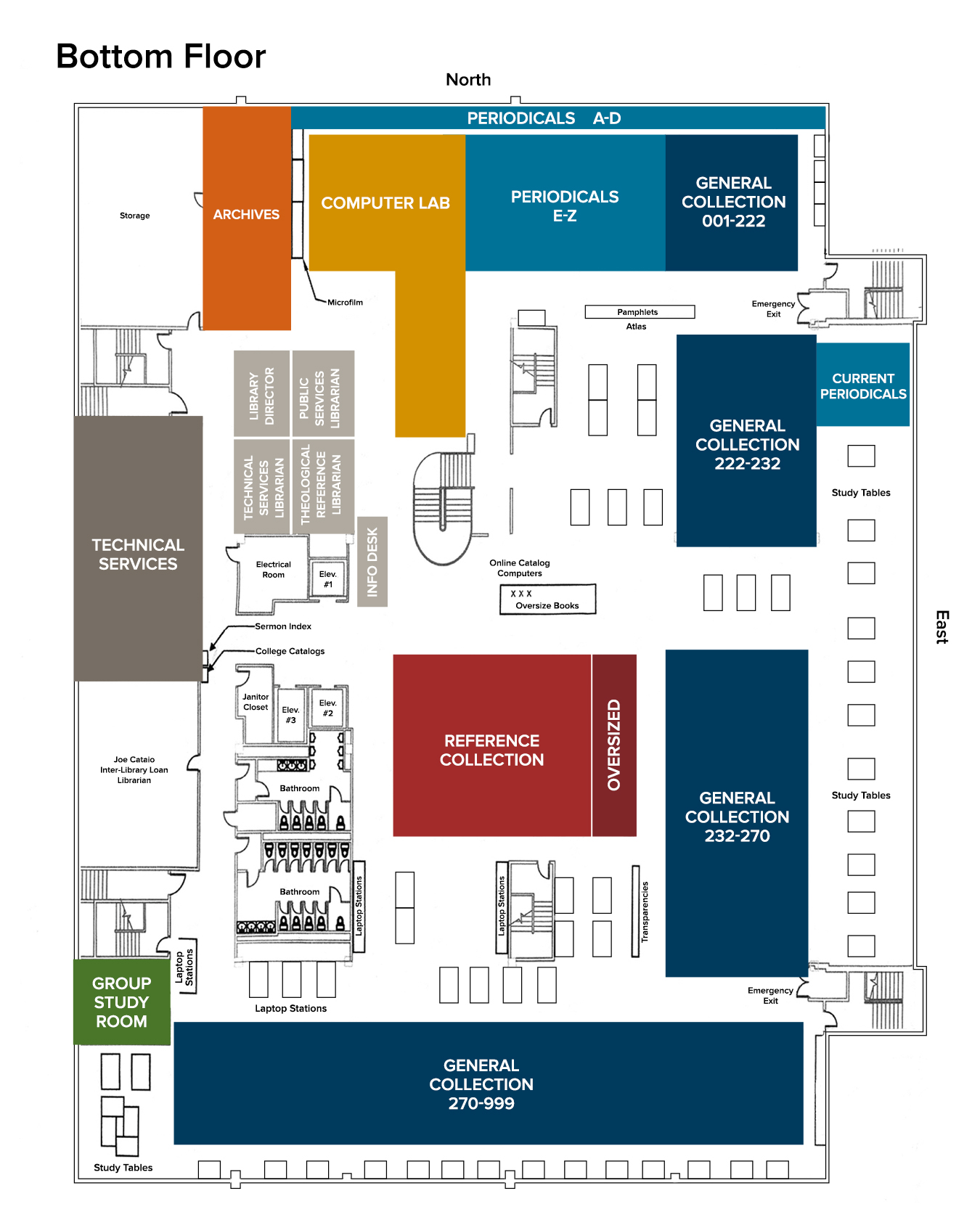 Library Map- Lower Floor